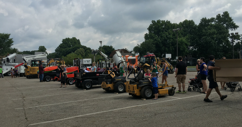 Cuyahoga Falls Touch a Truck - Line Up of Tractors