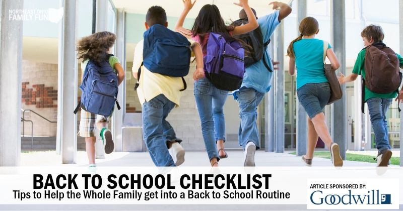 Back to School Checklist – Tips to Help the Entire Family get into a Back to School Routine