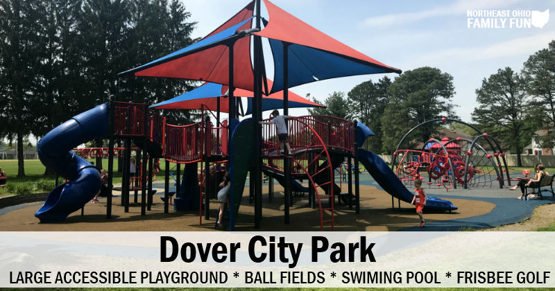 Dover City Park – Large Playground, Disc Golf, Ball Fields and Pool