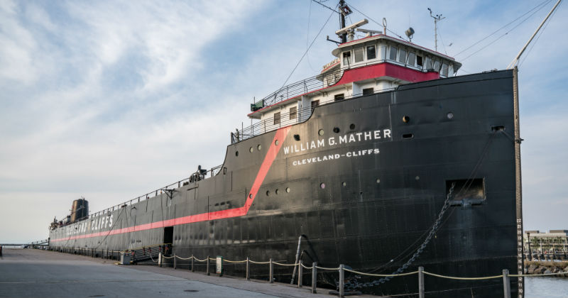 Steamship William G Mather Cleveland Ohio
