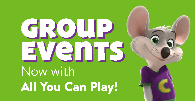 Group Events at Chuck E Cheese