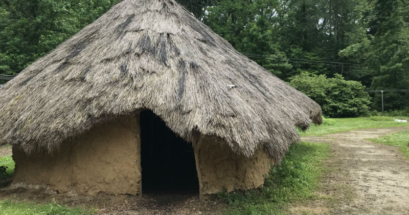 Replica Indian House Fort Ancient Ohio
