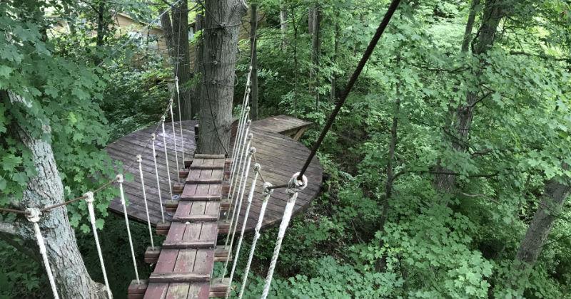 Rope Bridges at Ozone Zipline Adventure