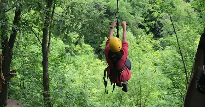 Ziplining at Ozone in Ohio