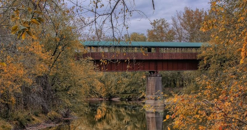 Bridge of Dreams Covered Bridge, Brinkhaven Ohio