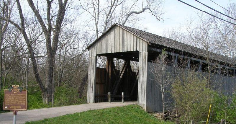 The Black Covered Bridge Pugh's Mill, Oxford Ohio