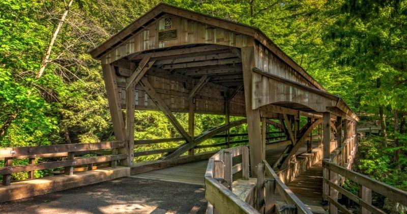 Lantermans Mill Covered Bridge in Ohio