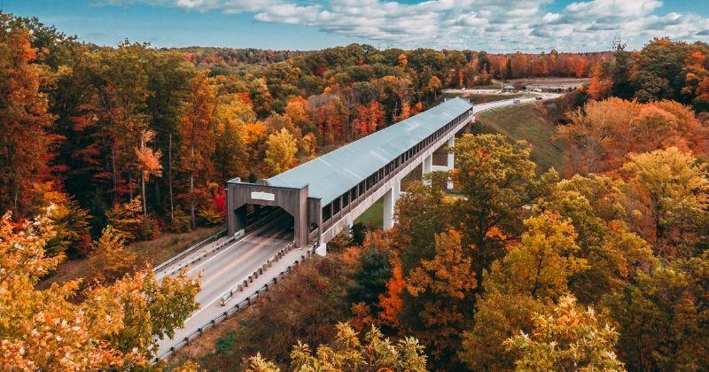 Smolen Gulf Covered Bridge in Ohio