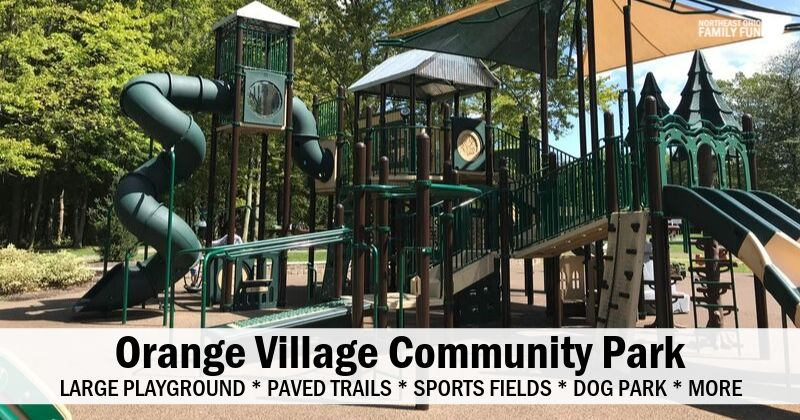 Orange Village Park – Unique Playground, Paved Trails, Dog Park & More!