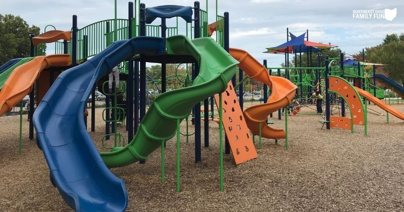 Mucklo Park at Coe Lake in Berea – Huge Playground and so much more!