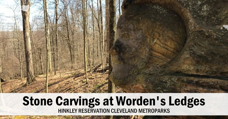 Amazing Stone Carvings at Worden's Ledges in Cleveland Metroparks