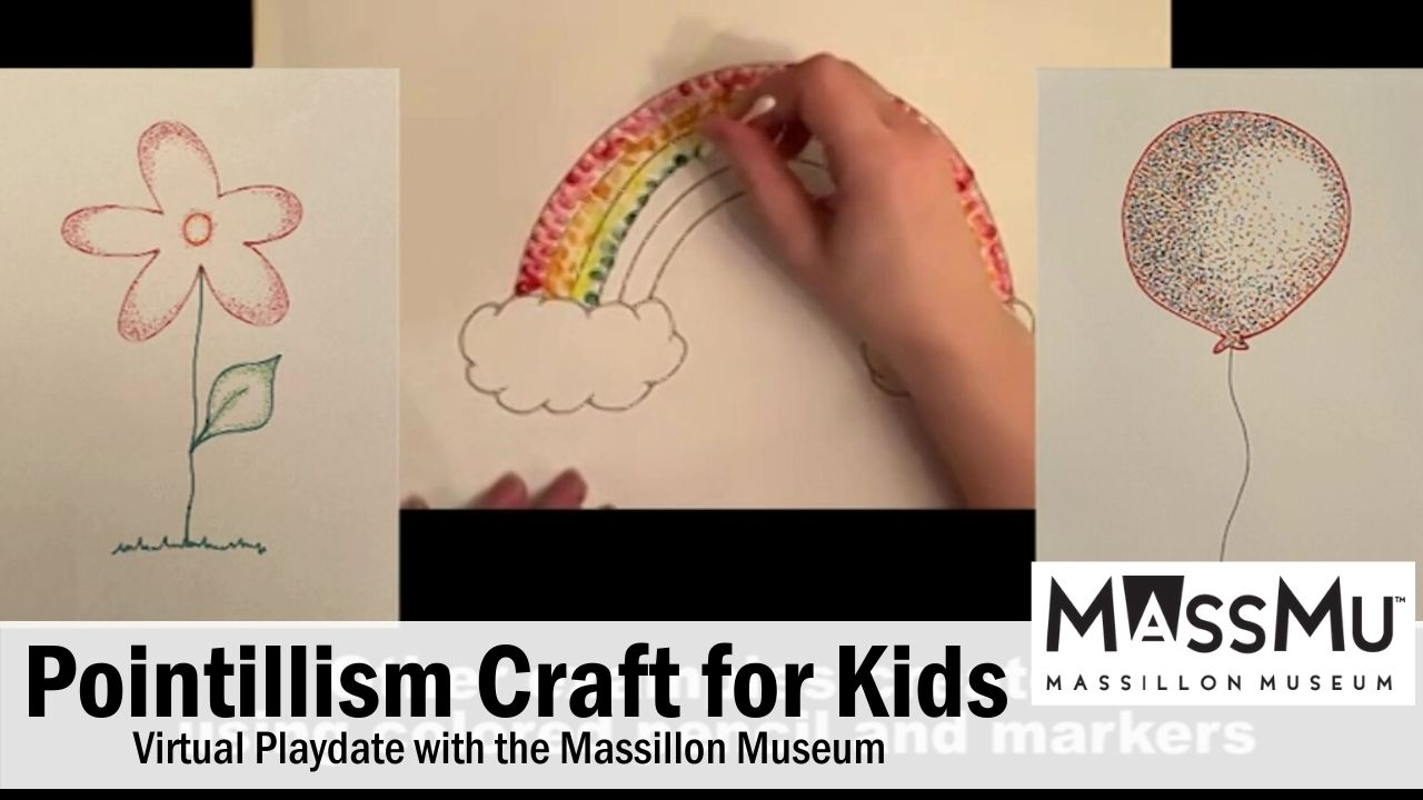 Pointillism Craft for Kids