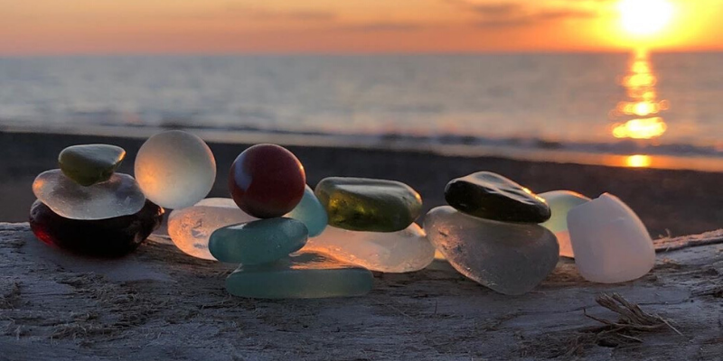Searching for Lake Erie Beach Glass