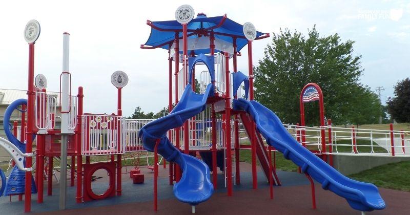 Veterans Memorial Park & Patriot Playground in Green